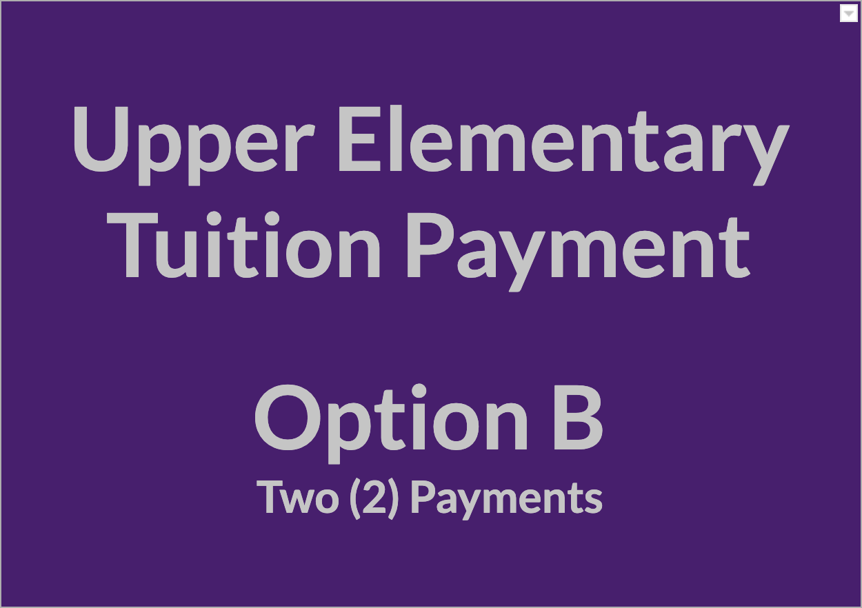 Upper Elementary Tuition Payment - OPT B