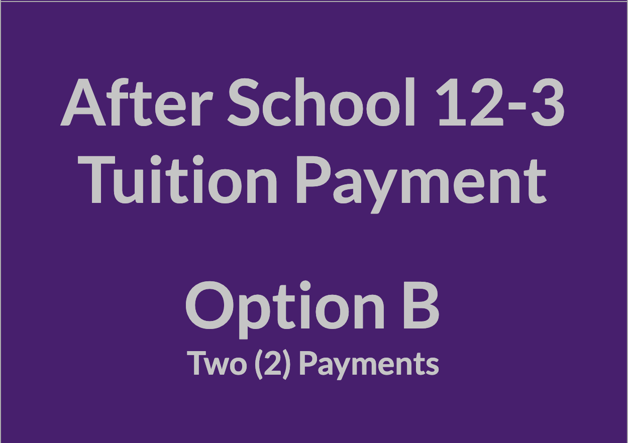 After School 12-3 Tuition Payment - OPT B