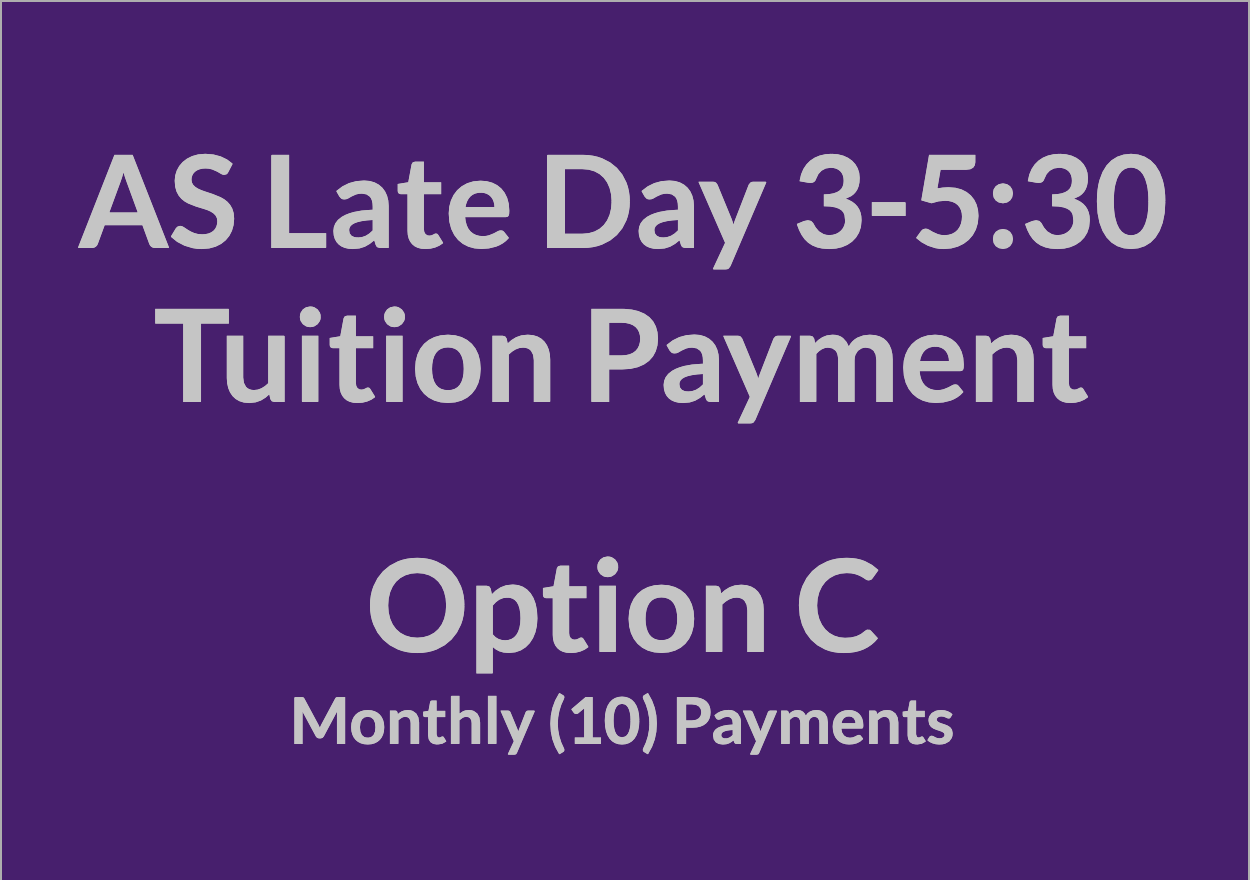 Late Day 3-5:30 Tuition Payment - OPT C